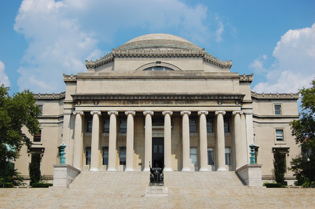 campus tour: Columbia University Low Library, Manhattan, New York City, USA Editorial