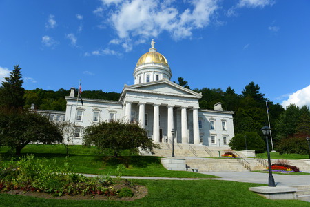 revival: Vermont State House, Montpelier, Vermont, USA.  Vermont State House is Greek Revival style built in 1859.