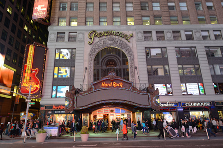 Paramount Theatre is a famous movie palace located at Broadway in Times Square, Manhattan, New York City, USA
