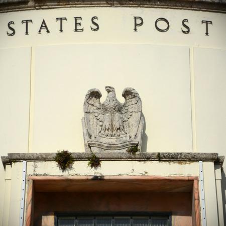 Miami Beach Post Office at 1300 Washington Avenue is Art Deco style building in Miami Beach, Florida, USA Editorial