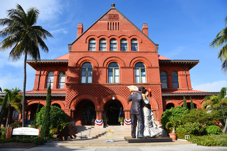 Old Post Office and Custom house, currently as Key West Museum of Art & History in downtown Key West, Florida, USA
