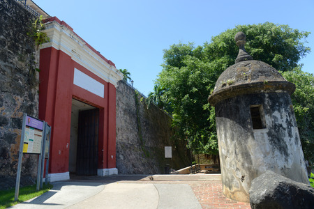 invaders: San Juan Gate (Puerta de San Juan), San Juan, Puerto Rico. Puerta de San Juan was built in the late 1700s to protect the city from invaders.
