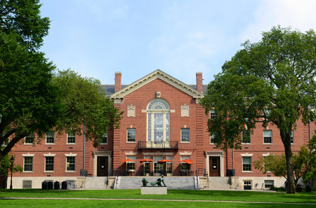 campus tour: Faunce House is a Colonial Revival style building in Brown University. This building was built in 1903 and originally called Rockefeller Hall, Brown University, Providence, Rhode Island, USA