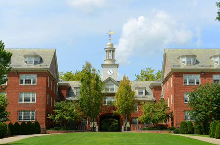 Wayland Hall in Brown University, Providence, Rhode Island, USA Редакционное
