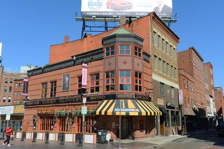 cross bar: Boston Goody Glover s Irish Bar at the corner of Salem Street and Cross Street in North End, Boston, Massachusetts, USA. Editorial