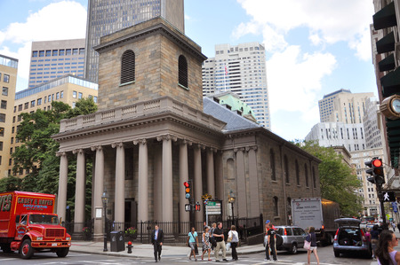 Kings Chapel in Boston on historic Freedom Trail, City of Boston, Massachusetts, USA Stock Photo - 39628468