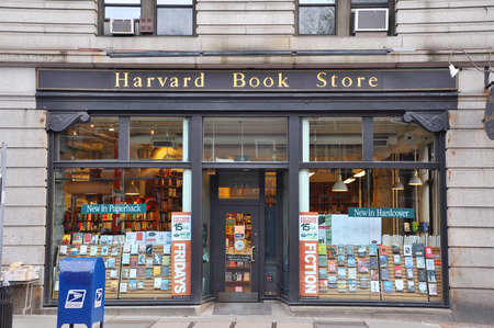 Tienda de Harvard libro cerca de la Universidad de Harvard, Cambridge, Boston, Massachusetts, EE.UU. Foto de archivo - 39701221