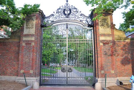 cambridge: Harvard University Gate, Cambridge, Massachusetts, USA