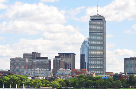 back bay: Prudential Center in Back Bay, Boston, Massachusetts, USA