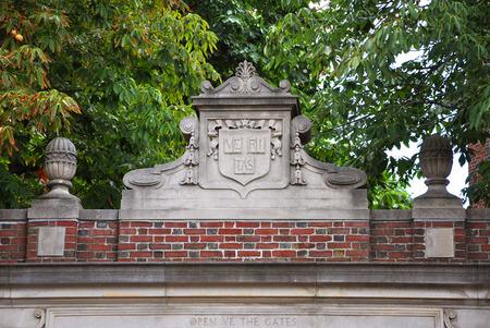 Lintel of Harvard University Cambridge Massachusetts USA Stock Photo - 39860044