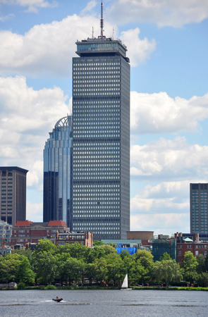 back bay: Prudential Center in Back Bay Boston Massachusetts USA