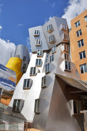 MIT Modern architecture the Stata Center designed by Frank Gehry in Massachusetts Institute of Technology Cambridge Boston Massachusetts USA.