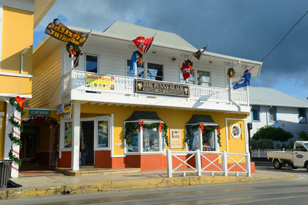 Historic shop The Penny Black in downtown George Town, Grand Cayman, Cayman Islands.