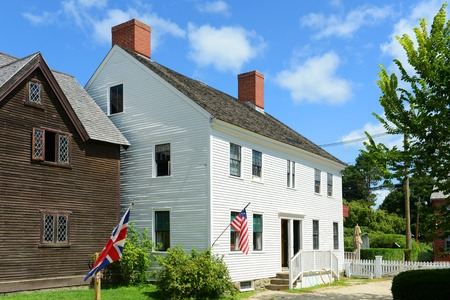 national historic site: ShapleyDrisco House at Strawbery Banke Museum in Portsmouth New Hampshire USA. This house built in 20th century and was home of the Shapiro family.