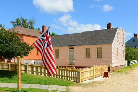 national historic site: Peacock House was built in 1821 at Strawbery Banke Museum in Portsmouth New Hampshire USA.