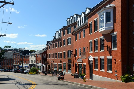 Portsmouth Bow Street is an 18th-century commercial path connect waterfront area in downtown Portsmouth, New Hampshire, USA. Editorial