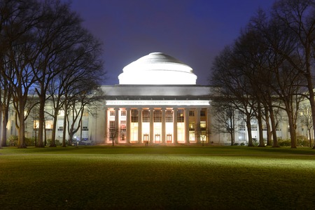 mit: Great Dome of Massachussets Institute of Technology MIT at night, Cambridge, Massachusetts, USA