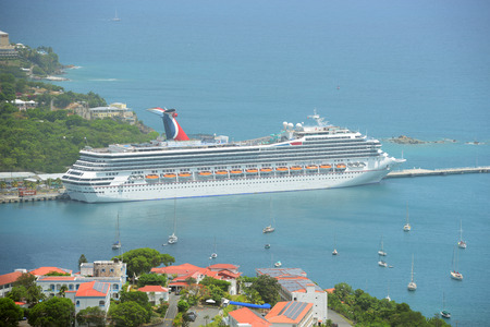 Carnival Cruise ship Valor docked in Saint Thomas, US Virgin Islands