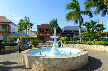 jamaica: Falmouth Water Square is the busy hub of Falmouth, Jamaica. Falmouth boasted running water before New York  City in 1798.
