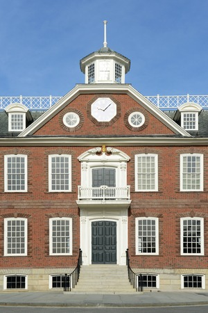 legislature: Old Colony House, built in 1741, was served as meeting place for the colonial legislature. This house now is a National Historic Landmark at Washington Square in downtown Newport, Rhode Island, USA.