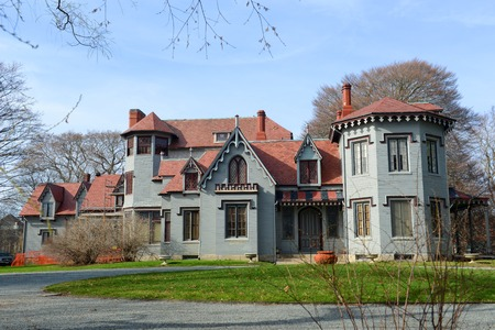 family owned: Kingscote is a Gothic Revival Mansion on Bellevue Avenue, Newport, Rhode Island, USA. This mansion was built in 1839 and owned by King family from 1863 to 1972.