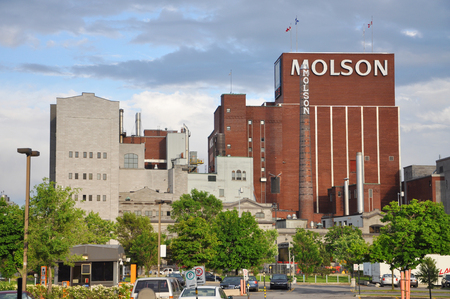 molson: MONTREAL - JUN 8: Molsons first brewery was located on the St. Lawrence River on June 8, 2012 in Montreal, Quebec, Canada.
