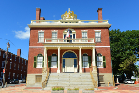 Custom House at the Salem Maritime National Historic Site (NHS) in Salem, Massachusetts, USA. This federal style building was built in 1819 and is the first NHS in the United States.