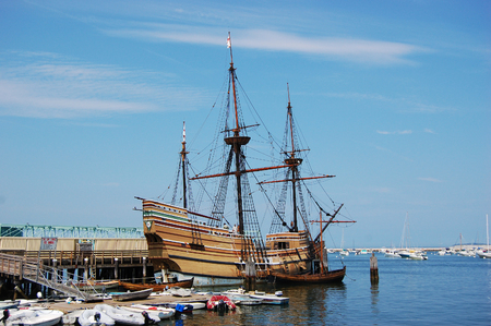 The Mayflower II at Plymouth, Massachusetts, USA