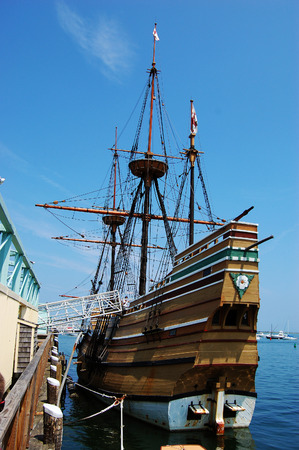 mayflower: The Mayflower II at Plymouth, Massachusetts, USA