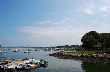 Rocky Sea shore and cruises in Plymouth, Massachusetts, USA