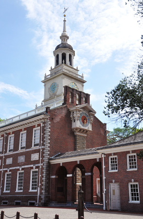 Independence Hall north facade in old town Philadelphia, Pennsylvania, USA. Editorial