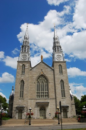 Cathedrale Notre Dame in downtown Ottawa, Ontario, Canada Stock Photo