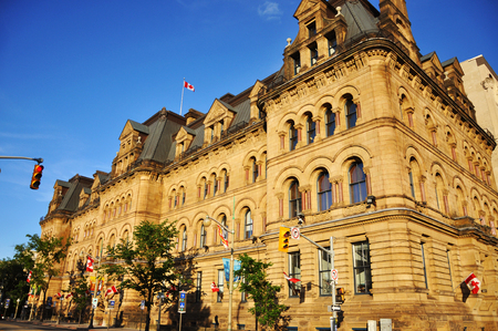 gothic revival: Historic Langevin Block in downtown Ottawa, Ontario, Canada.