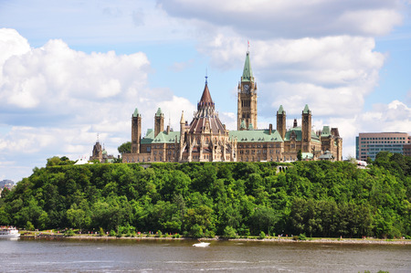 Parliament Buildings and Library, Ottawa, Ontario, Canada. Stock Photo