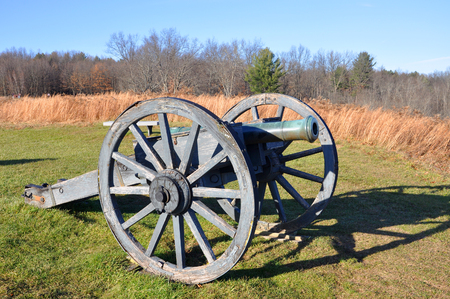 Cannon in Saratoga National Historical Park, Saratoga County, Upstate New York, USA. This is the site of the Battles of Saratoga in the American Revolutionary War.