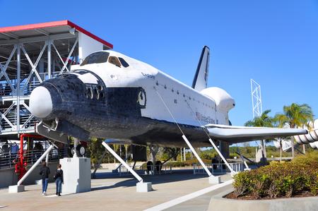 Space Shuttle Explorer, una replica a grandezza naturale dello Space Shuttle presso il Kennedy Space Center a Cape Canaveral, Florida, USA. Archivio Fotografico - 93913875