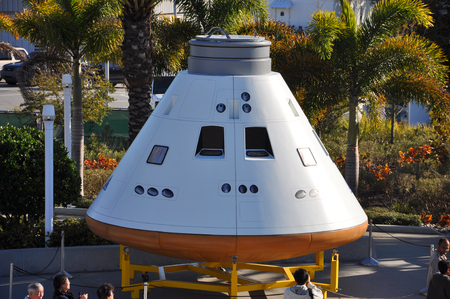 Orion spacecraft model in the John F. Kennedy Space Center in Florida, USA.