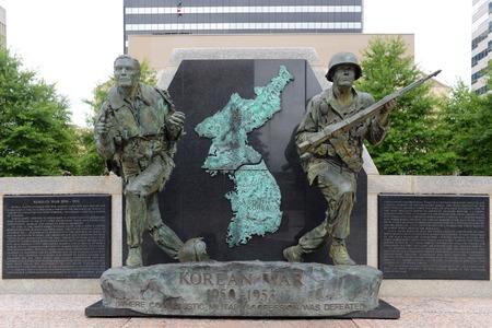 Korean War Memorial in War Memorial Plaza in Nashville, Tennessee, USA.