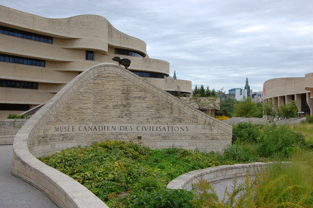 Canadian Museum of Civilization beside the Ottawa River in Gatineau, Ottawa, Canada. Now this museum is renamed as Canadian Museum of History.