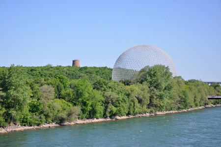 Montreal Biosphere was built to display Canadian St. Lawrence Seaway river system on Saint Helens Island in Montreal, Quebec, Canada.