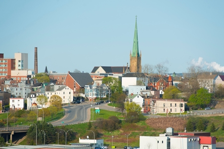 Cathedral of the Immaculate Conception on 91 in downtown Saint John, New Brunswick, Canada. Stock Photo