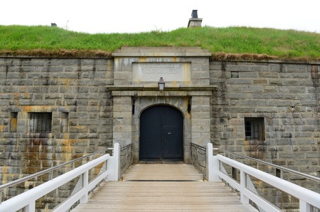 Halifax Citadel National Historic Site on top of Citadel Hill in downtown Halifax, Nova Scotia, Canada. The current citadel was built in 1856. Stock Photo - 101898321
