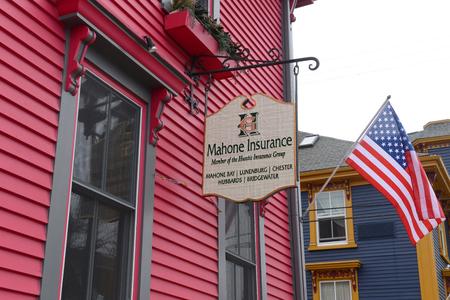 Historic Building on 11 King Street in town center of Lunenburg, Nova Scotia, Canada.