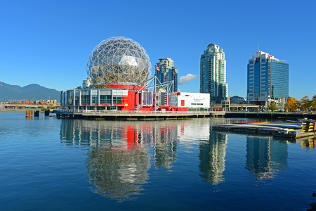 Vancouver Science World in Vancouver, Province of British Columbia, Canada. This building was designed for EXPO 86.