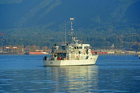 Royal Canadian Navy Orca Class Patrol Craft Vessel PCT 58 Renard in Vancouver Harbour, Vancouver, British Columbia, Canada. Editorial