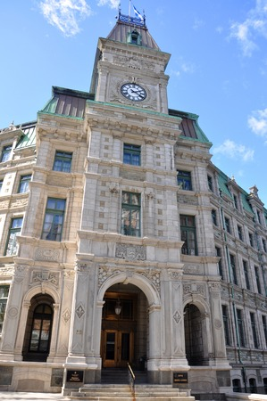 Quebec City Court House is a Second Empire style architecture located at Old Quebec City, Quebec, Canada. Historic District of Quebec City is UNESCO World Heritage Site since 1985. 写真素材