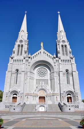 Basilica of Sainte-Anne-de-Beaupre at Quebec City, Quebec, Canada. Stock Photo