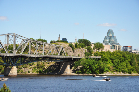 Alexandra Bridge and National Gallery, Ottawa, Ontario, Canada.