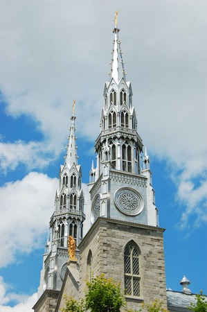 Cathedrale Notre Dame in downtown Ottawa, Ontario, Canada. Stock Photo