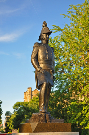 Statue of John By in Major`s Hill Park in downtown Ottawa, Canada. John By is the founder of Ottawa.